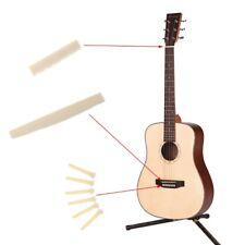 Acoustic Guitar Saddle Bridge Pins Nut Musical Parts + 6 Guitar bridge pins 1Set