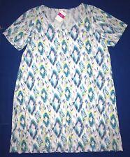 Fresh Produce 3x White Sunset Sky Allure Jersey Tee Shirt Dress 3x