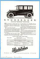 1923 STUDEBAKER advertisement, 4-door sedan photo, vintage auto advert