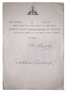 KENNETH GRANT SIGNED LETTER, OCCULT, 1993, SOLSTICE GREETINGS, ALEISTER CROWLEY