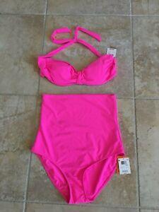 JOE BOXER neon pink bikini 2-piece bathing suit size 18