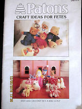 ~PATONS BOOK No. C43-CRAFT IDEAS FOR FETES-TOYS, HOMEWARES, SOCKS, GLOVES - GC~