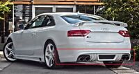 Audi A5/S5 8T rieger look rear bumper spoiler / diffuser / lip (not fit to sline
