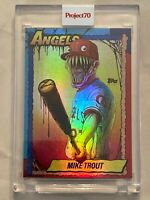 Topps PROJECT 70 Card #79 - Mike Trout by Alex Pardee 🌈  RAINBOW FOIL 1 / 70 🌈