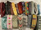 Lot 40 yards assorted jacquard woven embroidered sewing trim ribbon 3/8