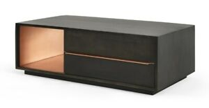 MADE.com Anderson Living Room Stylish Mocha Copper Coffee Table - RRP £399