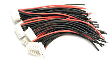 5S Li-Po Balance Cable Silicone 10cm 22AWG wire for A123 Lifepo4 RC Battery x 10