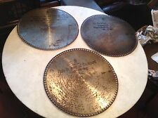 "Lot of 3 Antique Mira 15 1/2"" Music Box Discs No. 489, 879, 65 ""The Tyrolean"""