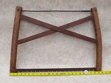 Large Wooden Bow Saw Handmade Unique Vintage Item Fantastic Workmanship