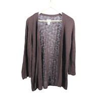 Chico's Womens Brown Open Front Long Sleeve Cardigan Sweater Size 2