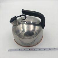 Vintage Paul Revere Ware Copper Bottom Whistling Tea Kettle Pot 88-c