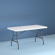 Cosco 14678WSL 6 Foot Centerfold Folding Table - White