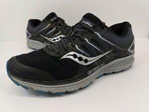 Saucony Omni 16 Everun Men's Black Gray S20370-4 Running Shoes sz 8.5