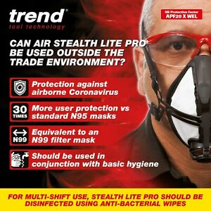 Trend STE/LP/ML Air Stealth Lite Pro P3 Face Mask - Medium / Large