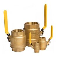 "BRASS BALL VALVE THREADED - NPT - 1/2"" To 4"" - PNEUMATIC WATER AIR"