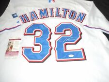 NICE Authentic Stitched Rangers Signed Josh Hamilton Autographed Jersey COA
