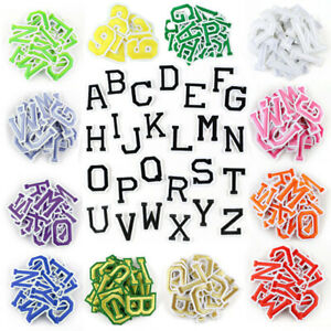 26 Alphabet English Letters Set Embroidered Patches Iron On Sew On Badge Fabric