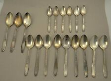 1847 ROGERS BROS~AMBASSADOR 1919 SPOON SILVER PLATE SET~6 Tea, 9 Soup, 3 Serving