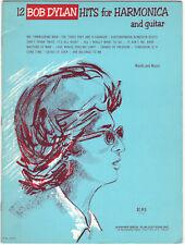 Bob Dylan 12 Hits for Harmonica and Guitar Songbook sheet music lyrics 1966