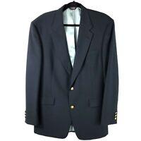 Jack Nicklaus Mens 42L Jacket Blazer Sport Coat Tournament Series Blue Wool
