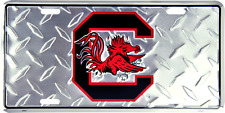 South Carolina Gamecocks Diamond License Plate Sign Made in USA