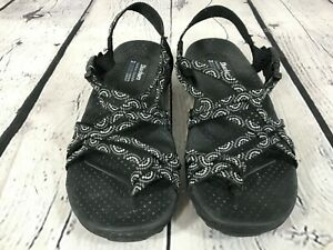 SKECHERS Outdoor lifestyle Strappy Sandals Black & Gray Women's Size 7
