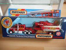 Matchbox Super Kings Peterbilt + Fire Spotter Plane Transporter in Box (K-134)