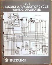 "SUZUKI SERVICE MANUAL Motorcycle & ATV Wiring Diagrams 1991 ""M"" MODELS"
