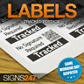 TRACKED LABELS - STICKER Postal Labels INR tracked barcoded parcel delivery
