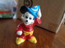 Rare Sorcerer Mickey Mouse Ceramic /Porcelain Figure Made in Japan