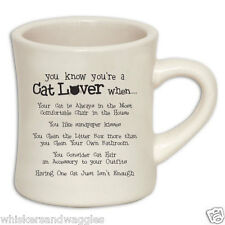 10 oz Diner Mug for Cat Lovers - You Know You're a Cat Lover...- Made in the USA