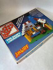 Vintage Entex Loc Blocs Legos Schlumpf Papa SCHLUMPF Labor Spielset Komplett
