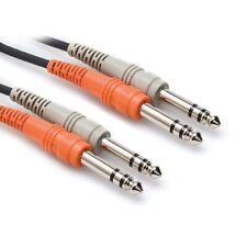 Hosa CSS-202 DUAL CABLE 6.5MM 1/4 JACK TO DUAL 6.5MM 1/4 JACK 2M