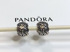 Authentic Pandora Two Tone Scrolls Charm - #79414 - Retired