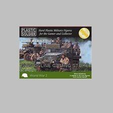 15mm WW2 M3 Allied Halftrack (5) + x40 Figures PLASTIC SOLDIER COMPANY NEW