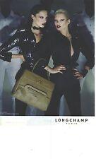 PUBLICITE ADVERTISING  2006   LONGCHAMP sac GATSBY by Kate MOSS et pret à porter