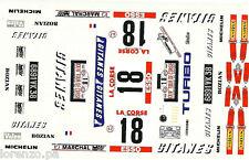 TRANS KIT RENAISSANCE RENAULT 5 TURBO SABY TILBER TOUR DE CORSE 1980 1/24