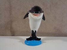 """Vintage 1987 Sea World Orca Whale Figure 2.5"""" By World Inc. (Ma39)"""