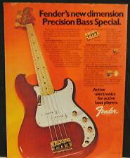 1981 Fender Precision Bass Special Guitar print Ad