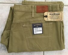 NWT Bills khakis 5S34-Weathered Canvas SZ 44x34 5- Pocket Standard Fit Moss $165