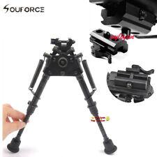 "Metal 6""-9"" Rotatable Harris Style Bipod Sling Swivel Pivot+QD 20mm Rail Adapter"