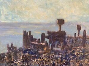 BARBARA DOYLE (B.1917) MODERN BRITISH OIL PAINTING - GREEN LANDSCAPE