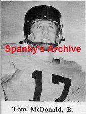 1952 High School Yearbook~Sooners All Am NFL Eagles HOF Football Tommy McDonald