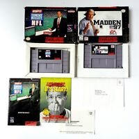 Madden NFL 97 & ESPN Sunday Night NFL (Super Nintendo Entertainment System)
