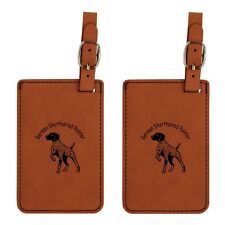 L3225 German Shorthaired Pointer Luggage Tags 2 Pk Free Shipping on 200 Breeds