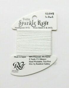 Rainbow Gallery Petite Sparkle Rays Glow in the Dark Thread - Needlepoint Canvas