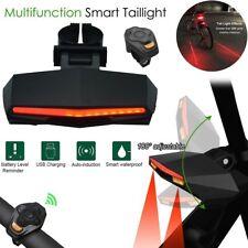 LED Wireless Bike Bicycle Taillight Turn Signal Light Indicator Remote Control