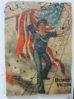 Antique Vintage Wood Jigsaw Puzzle Hand Cut 150 Pieces WWI Sailor U.S. Flag