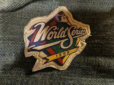 New York Yankees 1999 world series leather mini patch Atlanta braves