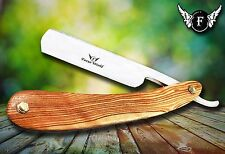 BARBER SALON STRAIGHT CUT THROAT WET SHAVING RAZOR RASIERMESSER RASOIR WOOD